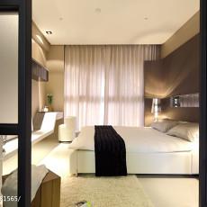 2018103平米三居卧室混搭装饰图