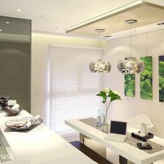 热门大小105平混搭三居餐厅装饰图片欣赏