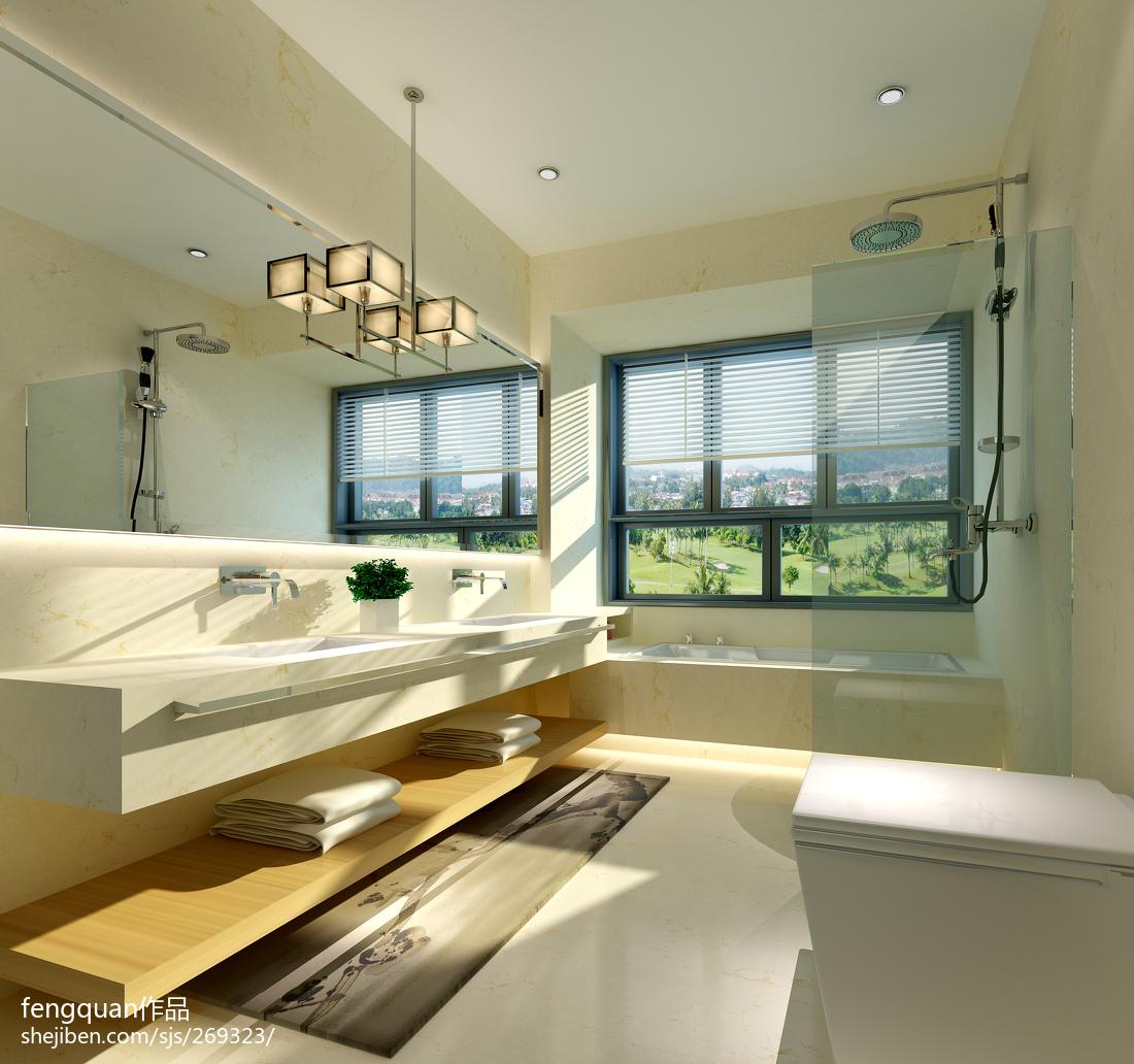 现代中式卫生间装修效果图  新中式卫生间装修效果图