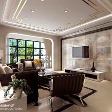 2018精选面积106平现代三居客厅装修设计效果图片