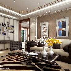 2018108平米三居客厅现代装修图片欣赏