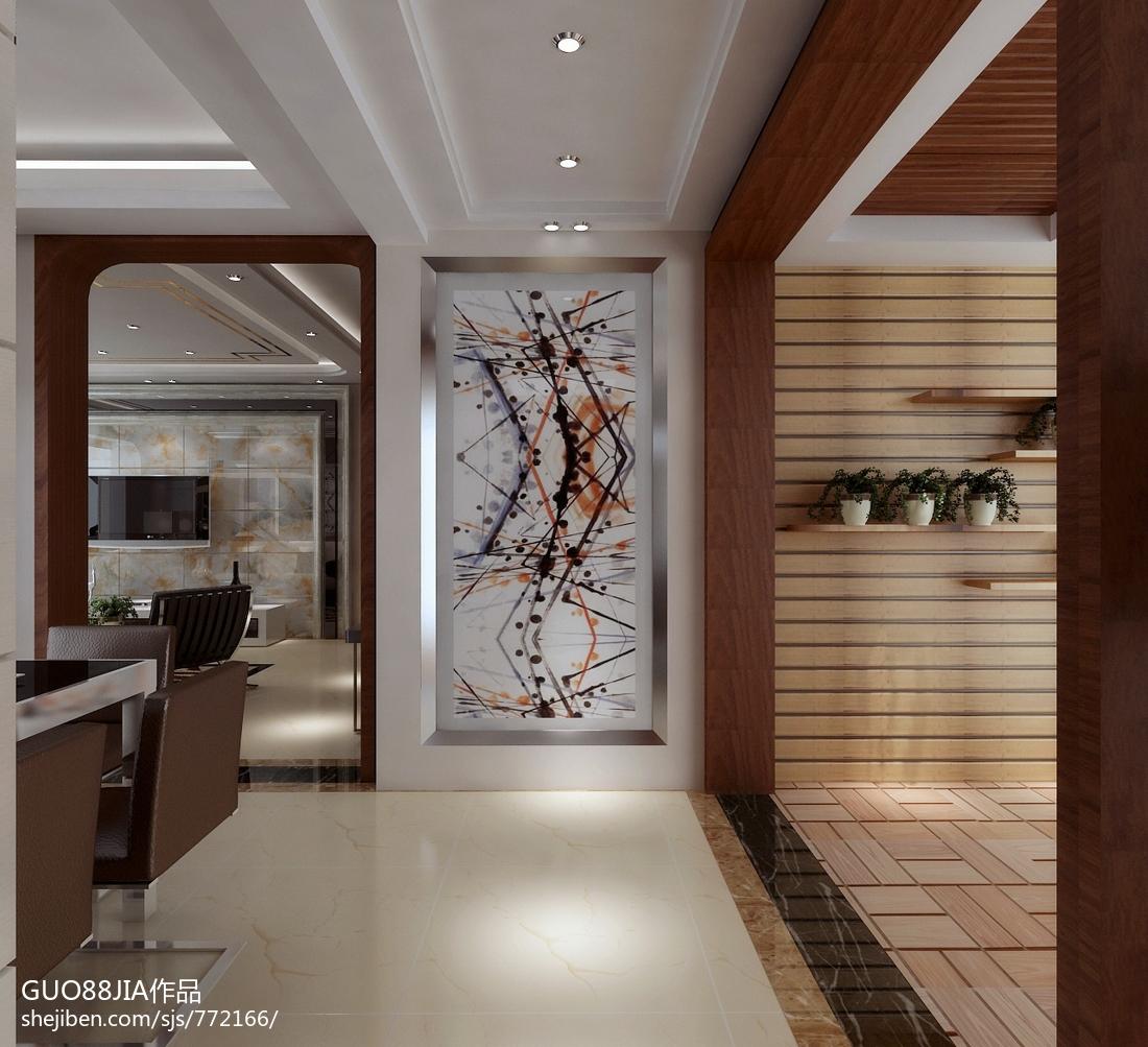 精美面积90平现代三居玄关装修欣赏图