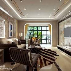 2018109平米三居客厅现代装饰图片欣赏