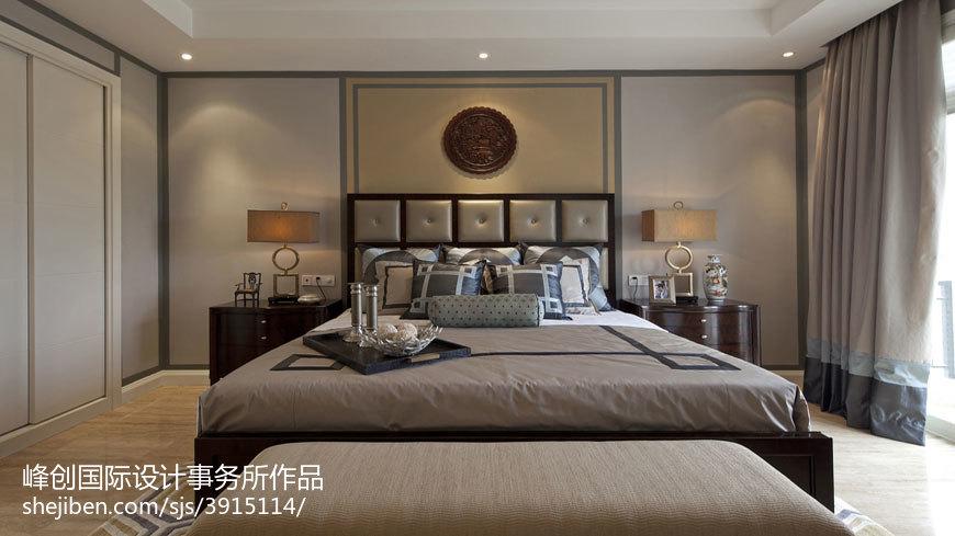 精选131平米美式别墅卧室装修实景图