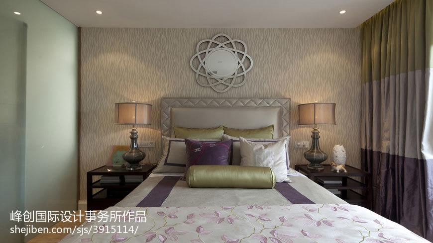 热门大小131平别墅卧室美式装修设计效果图片
