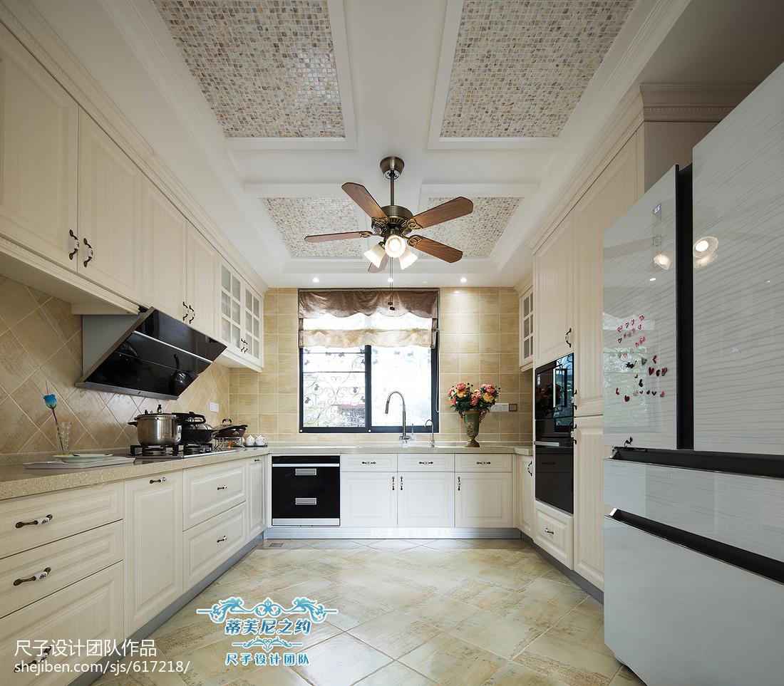 复式楼欧式厨房吊顶装修设计