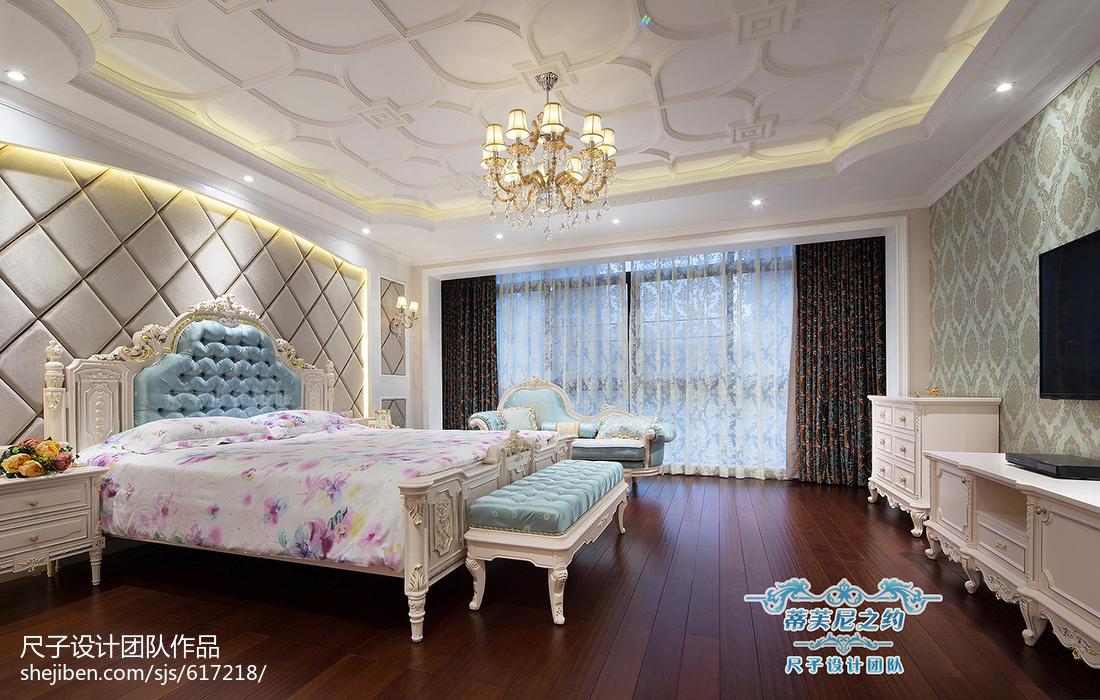 复式楼欧式卧室吊顶装修设计