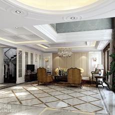 欧式风格客厅地面拼花效果图大全