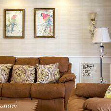 质朴99平现代三居客厅设计案例