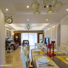 典雅120平现代三居餐厅装饰图片