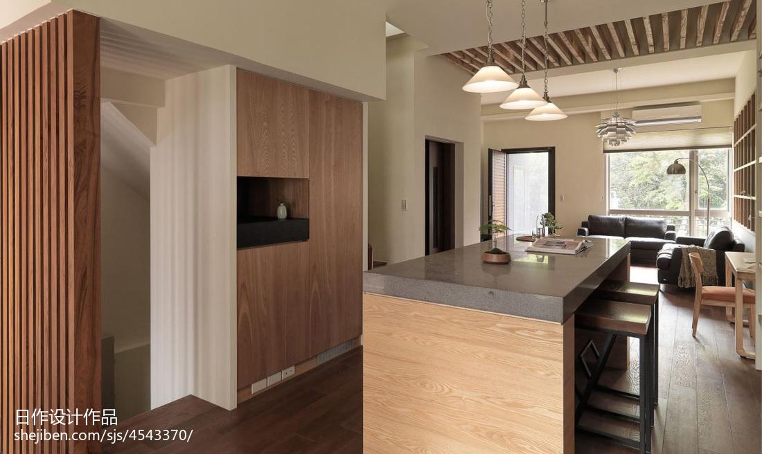 2018面积138平别墅厨房混搭装修设计效果图