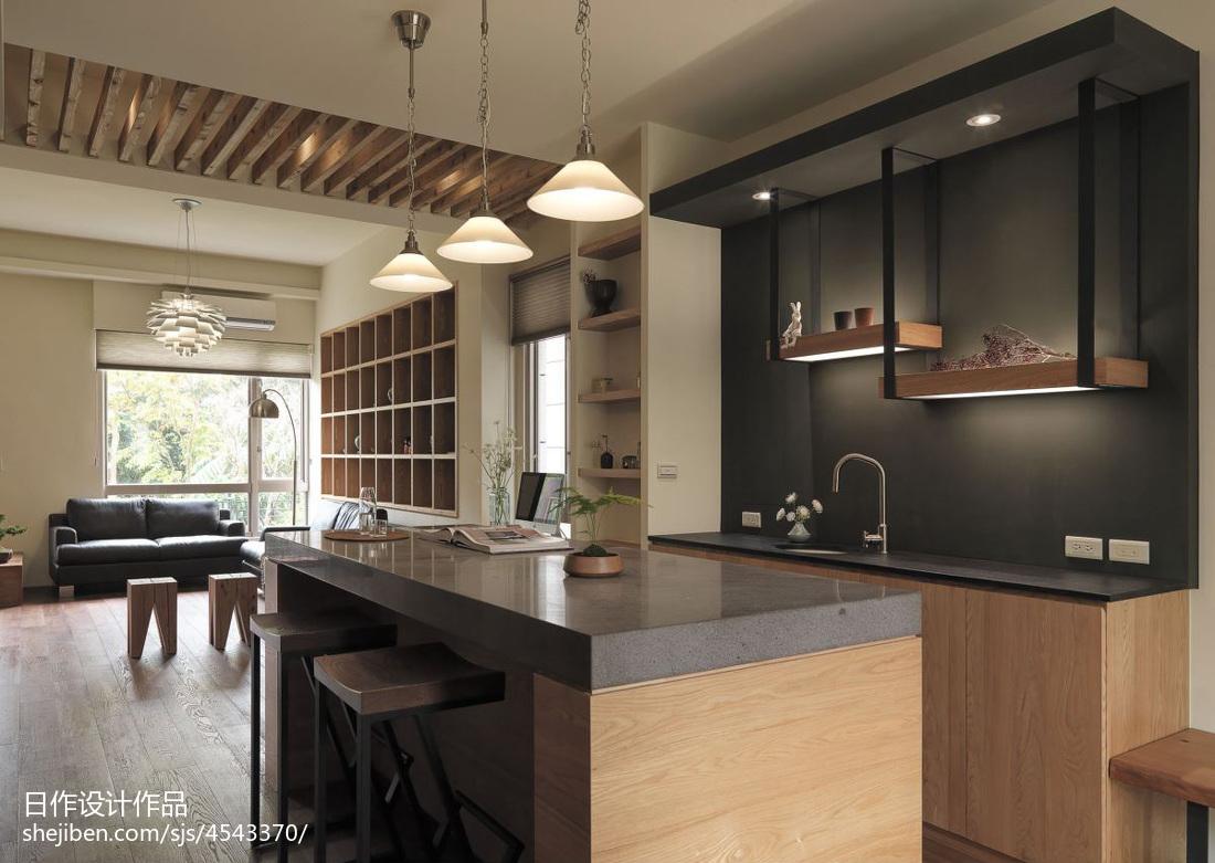 面积142平别墅厨房混搭装修实景图片大全