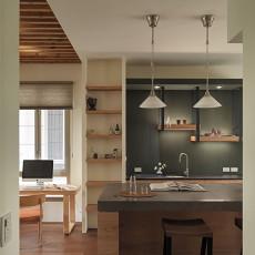 热门面积141平别墅厨房混搭装饰图片欣赏