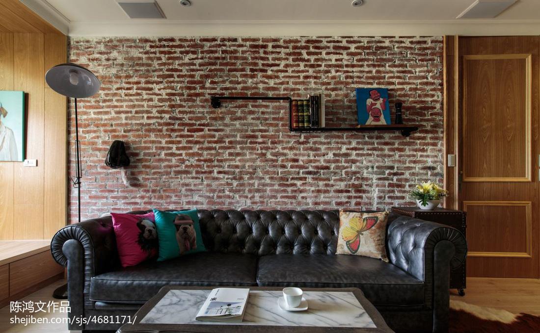 精美面积87平混搭二居客厅装修效果图片