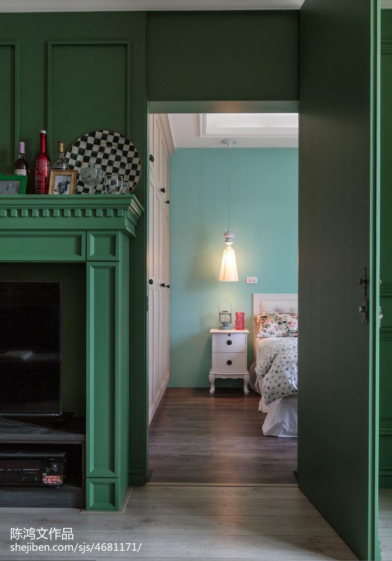 精选89平米二居卧室混搭装修效果图