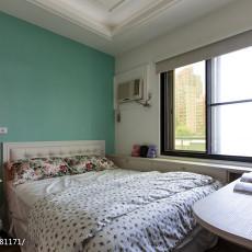 悠雅72平混搭二居卧室装修美图
