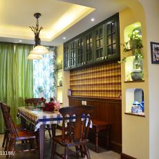 热门面积91平美式三居餐厅装修设计效果图片欣赏