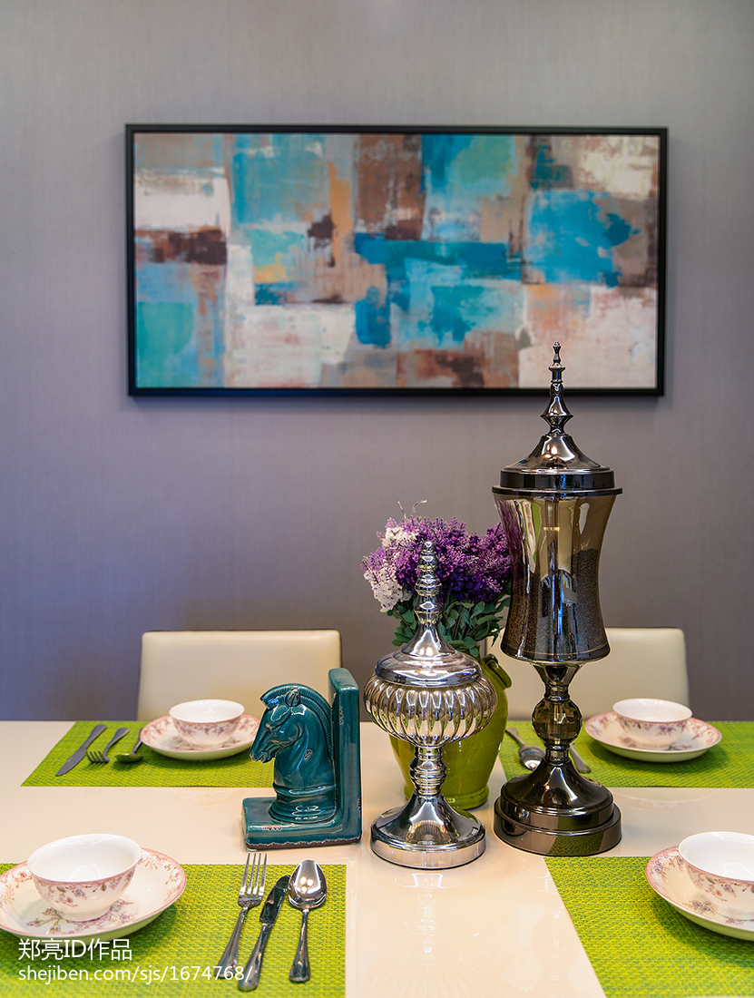 质朴30平现代小户型餐厅效果图