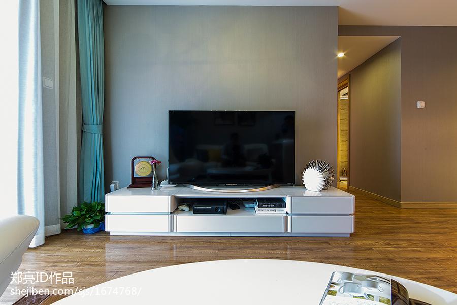 现代电视背景墙装修图