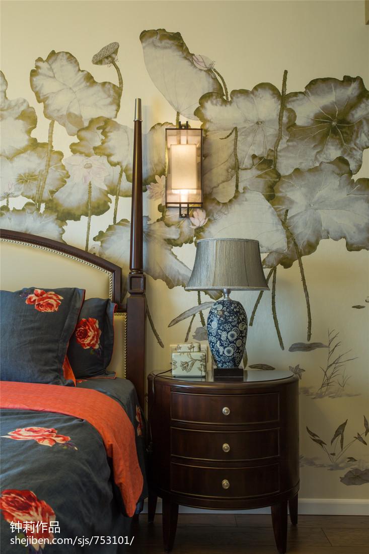热门面积125平复式卧室混搭装饰图