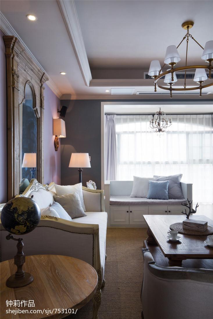 热门108平米三居客厅美式设计效果图