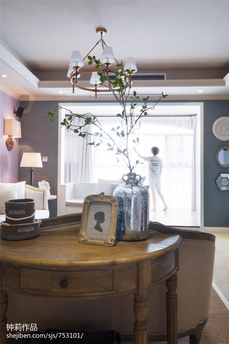 精选104平米三居客厅美式装修设计效果图片大全