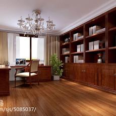 大小93平现代三居书房装修实景图