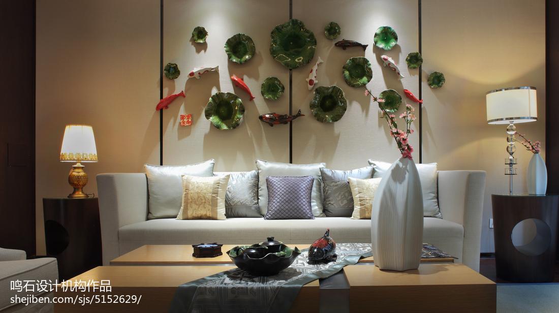 精选112平米中式别墅客厅装修实景图片大全