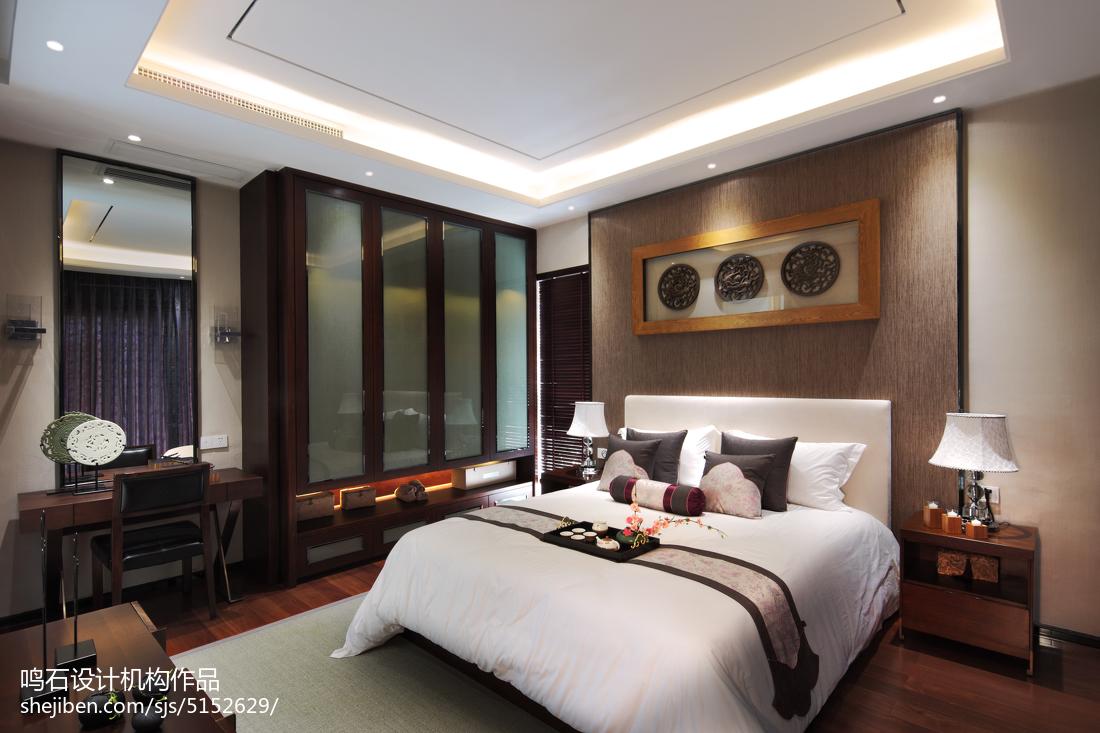 126平米中式别墅卧室装修图片大全