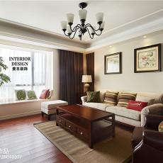 热门97平米三居客厅美式装饰图片大全