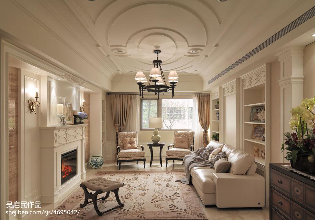 201899平方三居客厅美式实景图