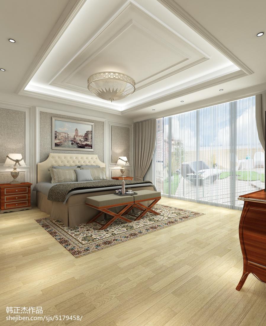 最新130平米欧式别墅卧室装修效果图片