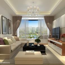 精选114平米现代复式客厅装修设计效果图片欣赏
