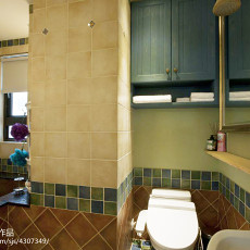 热门面积107平美式三居卫生间装修欣赏图