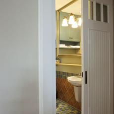 面积94平美式三居卫生间实景图片大全