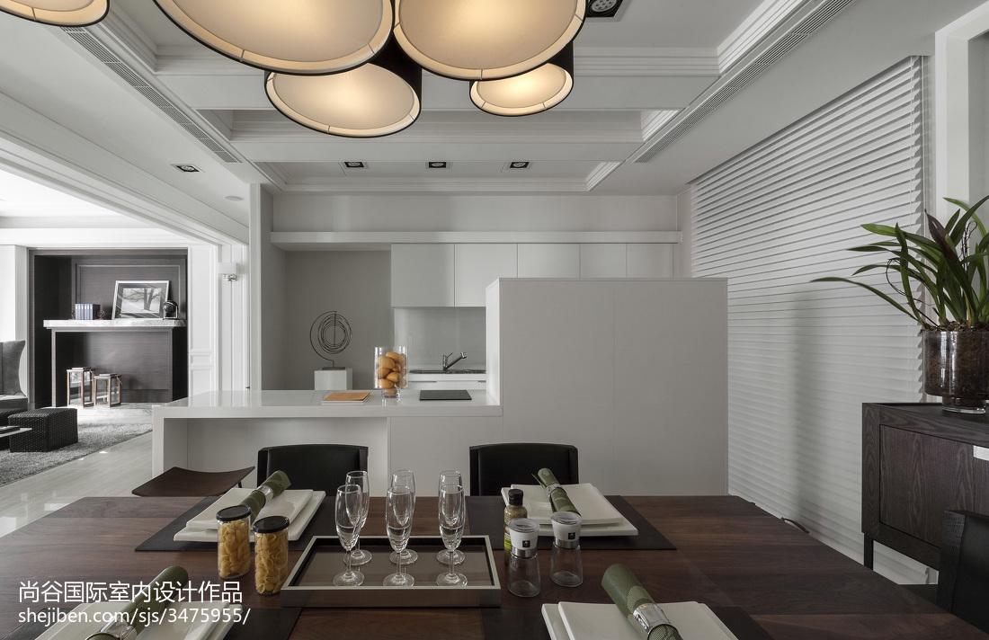 轻奢346平欧式样板间餐厅装饰美图