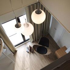 热门面积125平复式客厅混搭实景图片欣赏