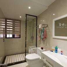 热门102平米三居卫生间现代实景图