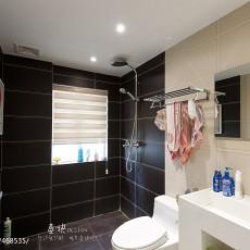 精选面积108平现代三居卫生间装修设计效果图片欣赏