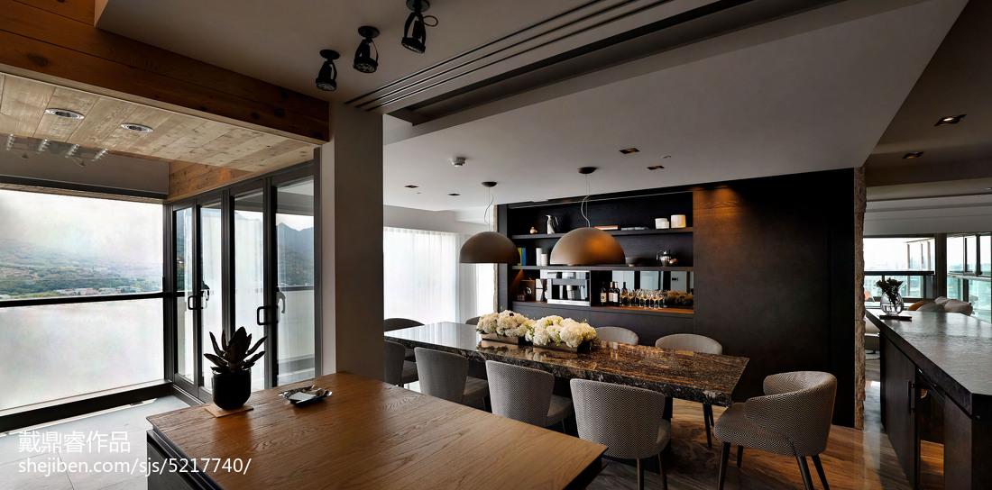 精选面积109平混搭三居餐厅设计效果图