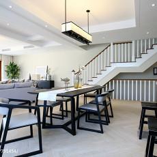 2018面积123平别墅餐厅现代实景图片欣赏