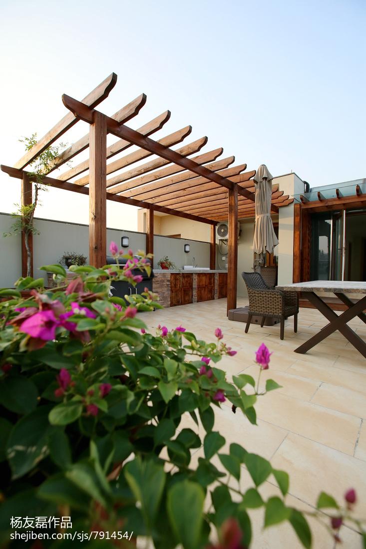 精美面积120平别墅花园现代装修图片