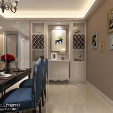 精美105平米三居餐厅美式装修效果图片