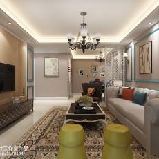 2018精选美式三居客厅装修效果图片