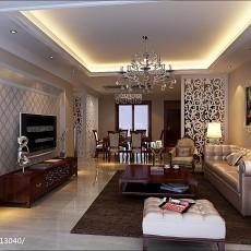 热门大小103平欧式三居客厅装修图片大全