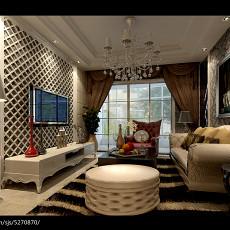 热门74平米二居客厅欧式装修效果图