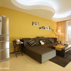 86平米二居客厅现代装修图片欣赏