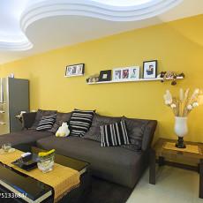 201871平米二居客厅现代装修实景图片