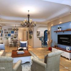 精选面积99平地中海三居客厅实景图片欣赏
