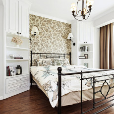 面积86平美式二居卧室装修实景图片欣赏